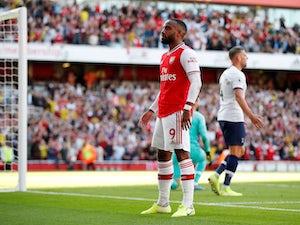 Arsenal's Alexandre Lacazette celebrates scoring their first goal on September 1, 2019