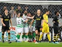 Celtic celebrate scoring against AIK on August 29, 2019