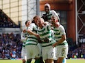 Celtic's Jonny Hayes celebrates scoring their second goal with teammates on September 1, 2019