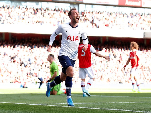 Tottenham Hotspur's Christian Eriksen celebrates scoring their first goal on September 1, 2019