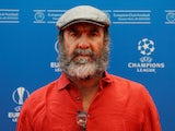 Eric Cantona appears for the Champions League group stage draw in Monaco on August 29, 2019