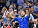 Novak Djokovic of Serbia after beating Juan Ignacio Londero of Argentina in the second round on day three of the 2019 U.S. Open tennis tournament at USTA Billie Jean King National Tennis Center on August 29, 2019