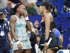 US Open day six: Naomi Osaka continues defence by beating tearful Cori Gauff
