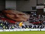 Legia Warsaw fans unfurl Pope John Paul II banner at Ibrox