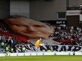 The late Pope John Paul II appears at Ibrox on August 29, 2019