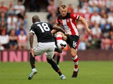 Manchester United's Ashley Young in action with Southampton's James Ward-Prowse in the Premier League on August 31, 2019