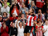 Southampton defender Jannik Vestergaard celebrates scoring against Manchester United in the Premier League on August 31, 2019