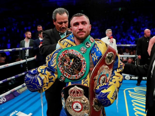 Vasyl Lomachenko to face Teofimo Lopez in lightweight unification fight on October 17