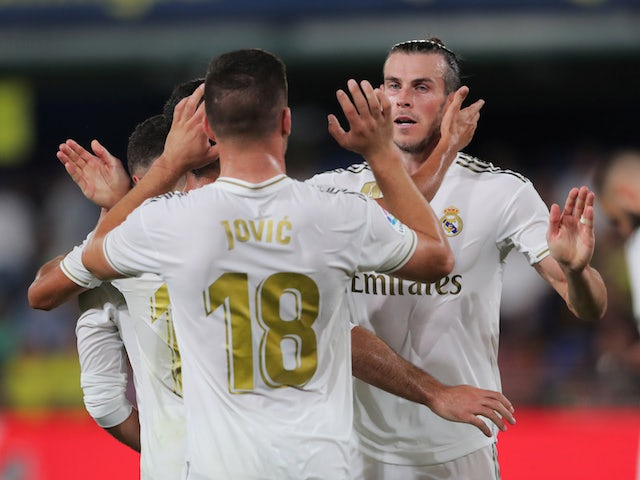 Real Madrid's Gareth Bale celebrates scoring against Villarreal in La Liga on September 1, 2019