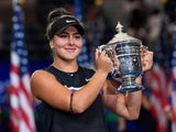 Bianca Andreescu celebrates winning the US Open on September 7, 2019