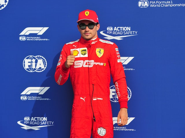 Charles Leclerc takes pole in Italy