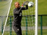 Darren Randolph during an Ireland training session on September 4, 2019