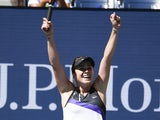 Elina Svitolina of Ukraine celebrates her win over Johanna Konta of Great Britain in a quarterfinal match on day nine of the 2019 US Open tennis tournament at USTA Billie Jean King National Tennis Center on September 3, 2019