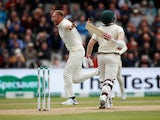 Stuart Broad celebrates the wicket of Australia's David Warner on September 4, 2019