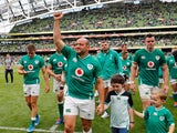 Ireland celebrate defeating Wales on September 7, 2019