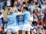 Caroline Weir celebrates scoring for Manchester City on September 7, 2019