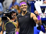Rafael Nadal celebrates on September 6, 2019