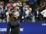 Serena Williams of the United States waves to the crowd after her match against Qiang Wang of China (not pictured) in a quarterfinal match on day nine of the 2019 US Open tennis tournament at USTA Billie Jean King National Tennis Center on September 4, 20