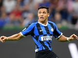 Alexis Sanchez in action for Inter Milan on September 14, 2019