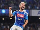 Dries Mertens celebrates scoring for Napoli on September 14, 2019