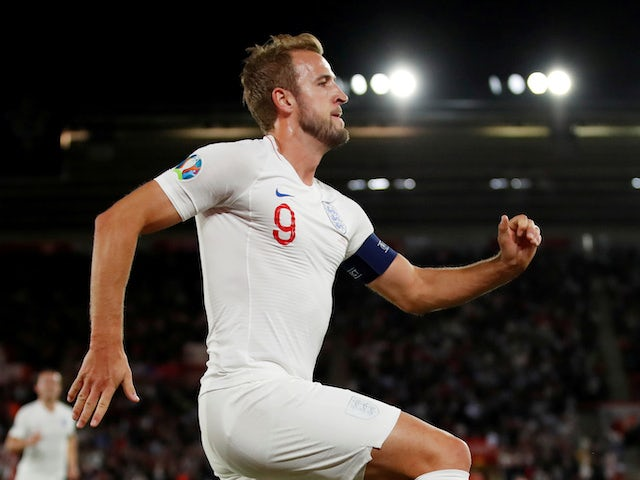Harry Kane in action for England on September 10, 2019