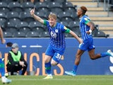 Joe Gelhardt celebrates scoring for Wigan Athletic on September 14, 2019