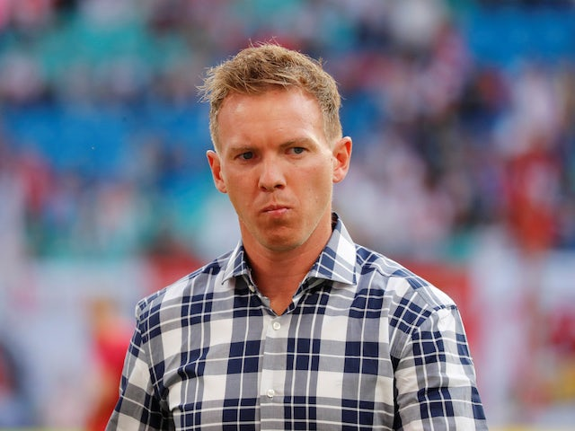 RB Leipzig coach Julian Nagelsmann pictured on September 14, 2019