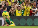 Kenny McLean celebrates scoring for Norwich City on September 14, 2019