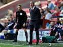 Charlton Athletic manager Lee Bowyer reacts during the match on August 10, 2019