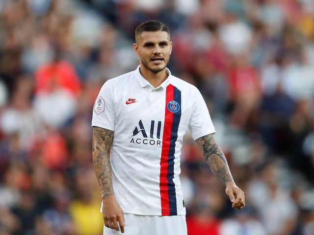 Mauro Icardi in action for PSG on September 14, 2019