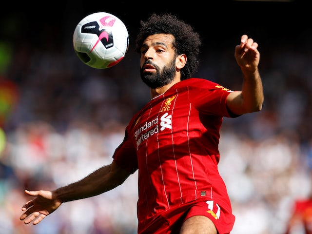 Mohamed Salah in action during the Premier League game between Liverpool and Newcastle United on September 14, 2019