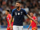 Olivier Giroud in action for France on September 10, 2019