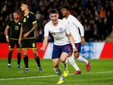England U21's Phil Foden celebrates scoring their first goal on September 9, 2019
