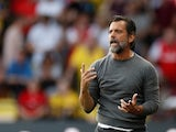 Watford manager Quique Sanchez Flores reacts on September 15, 2019