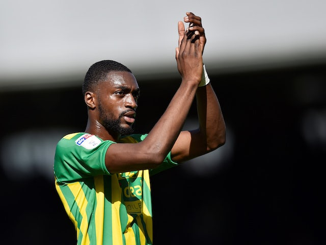 Semi Ajayi celebrates scoring a late equaliser for West Bromwich Albion on September 14, 2019