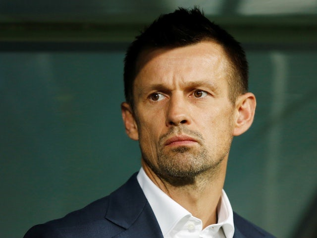 Zenit St Petersburg head coach Sergei Semak pictured in April 2019