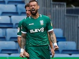 Steven Fletcher celebrates scoring for Sheffield Wednesday on September 15, 2019