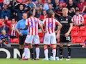 Joe Allen sees red for Stoke City on September 14, 2019