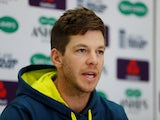 Tim Paine during an Australia press conference on September 11, 2019
