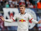 Timo Werner in action for RB Leipzig on September 14, 2019
