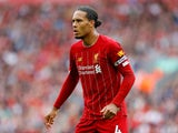 Virgil van Dijk in action during the Premier League game between Liverpool and Newcastle United on September 14, 2019