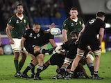 New Zealand scrum-half Aaron Smith pictured in action against South Africa on September 21, 2019