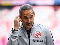 Adi Hutter in charge of Eintracht Frankfurt on May 18, 2019