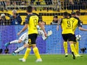 Barcelona's Marc-Andre ter Stegen saves penalty from Borussia Dortmund's Marco Reus on September 17, 2019.