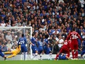 Trent Alexander-Arnold scores for Liverpool against Chelsea in the Premier League on September 22, 2019.