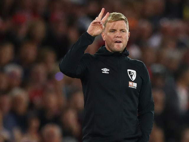 Boournemouth manager Eddie Howe pictured on September 20, 2019