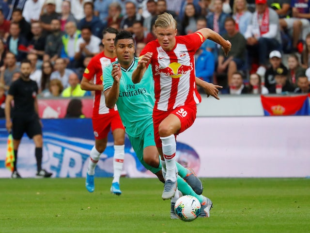 Erling Haland pictured for Red Bull Salzburg in August 2019