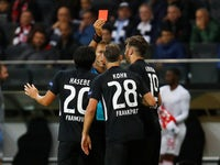 Dominik Kohr is shown a red card by referee Davide Massa on September 19, 2019