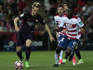 Barcelona midfielder Ivan Rakitic pictured in action against Granada in April 2017