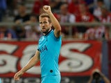Harry Kane celebrates scoring for Spurs on September 18, 2019
